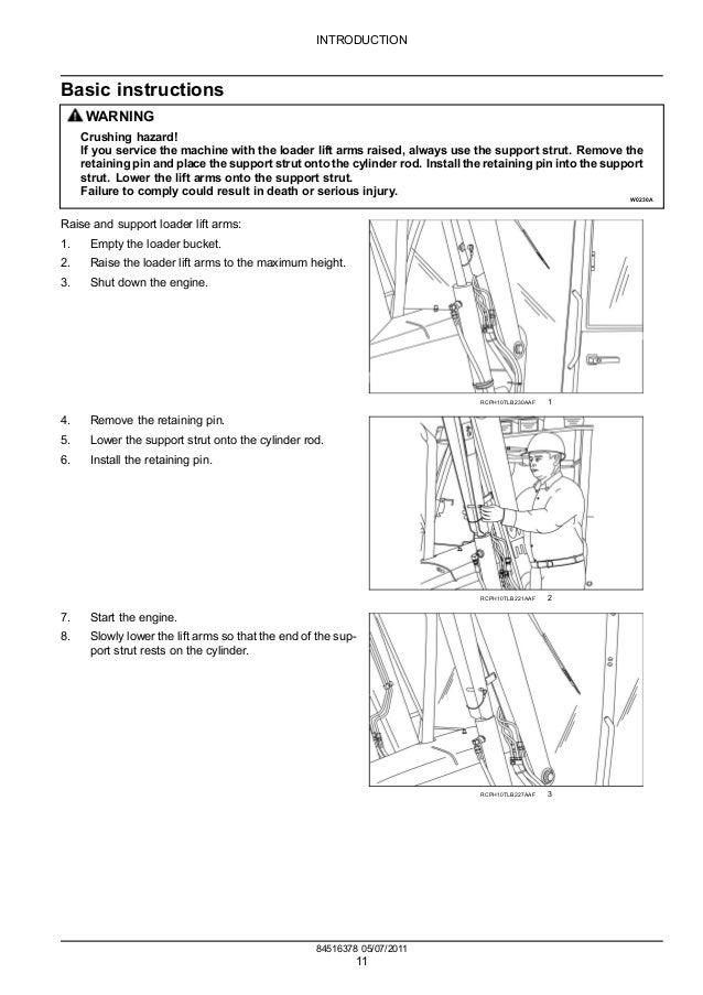 Case 580k Backhoe manual Bucket pin sizes