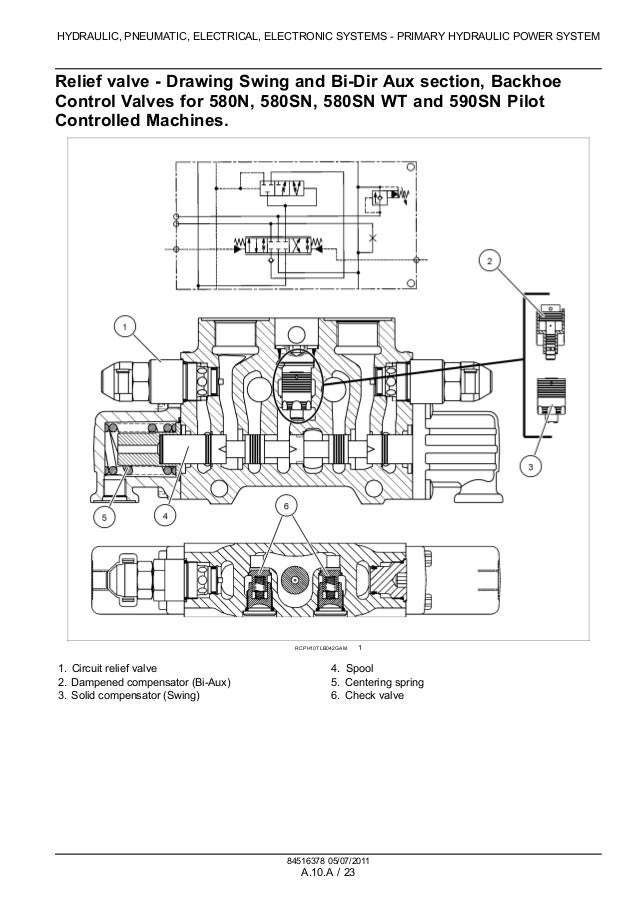 case 580sn tractor loader backhoe service repair manual a 22 53 hydraulic pneumatic electrical