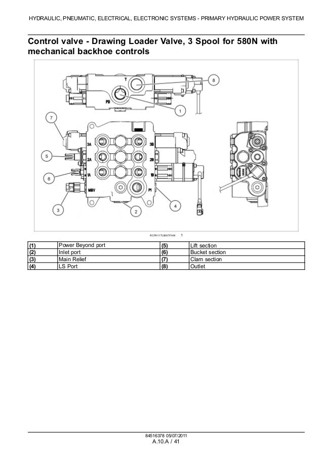 CASE 580SN TRACTOR LOADER BACKHOE Service Repair Manual on