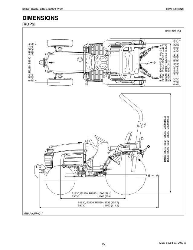 Kubota B2230 Tractor Service Repair Manual