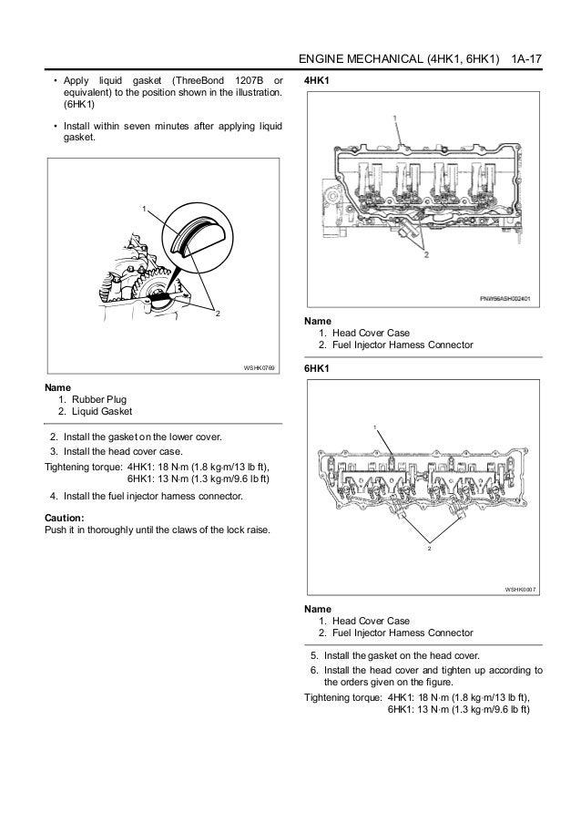 Hitachi Isuzu 4hk1 6hk1 Engine Service Manual Manuals - Www