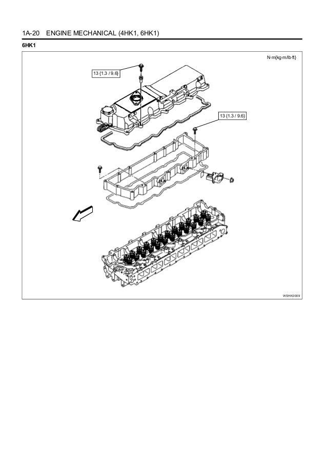 HITACHI 6HK1 ENGINE Service Repair Manual