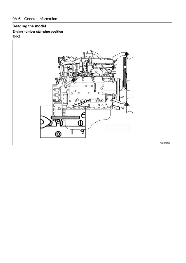 HITACHI 6HK1 ENGINE Service Repair Manual