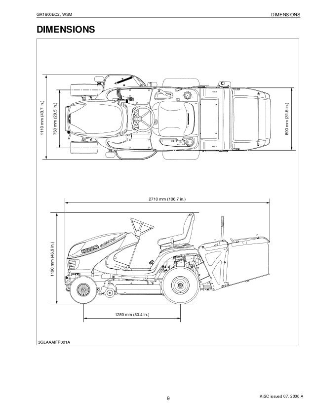 Kubota Gr1600ec2 Ride On Mower Service Repair Manual