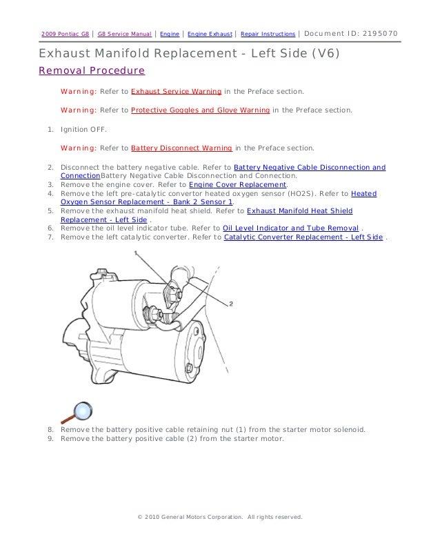 2009 pontiac g8 service repair manual2009 pontiac g8 g8 service manual