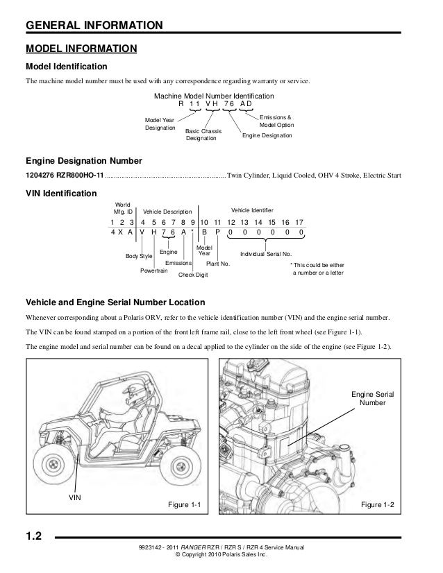 polaris ranger rzr 2011 factory service repair manual