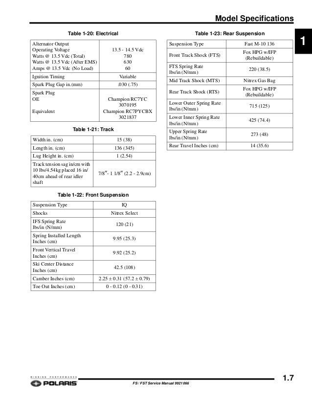 2007 POLARIS FST IQ CRUSIER SNOWMOBILE Service Repair Manual