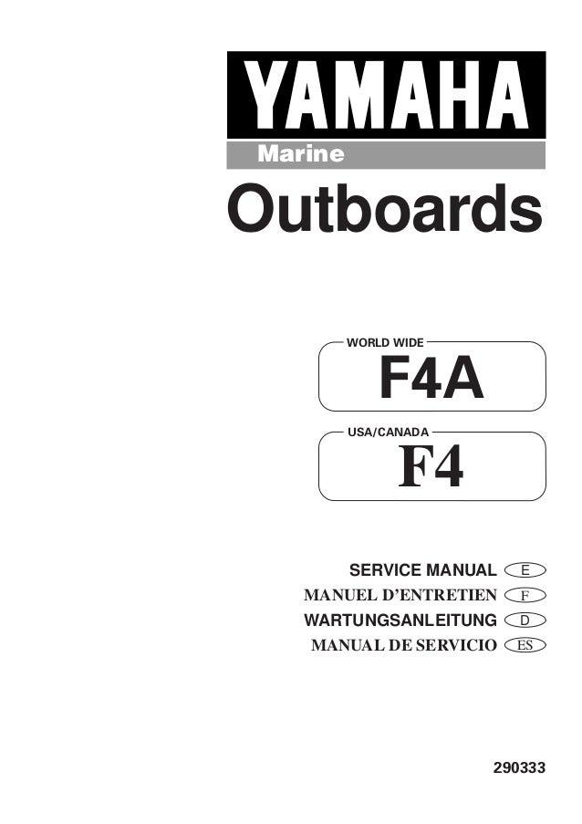 Yamaha f4amhs manual