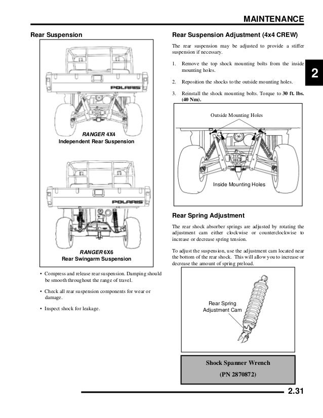 2009 Polaris Ranger 4X4 700 EFI Crew Service Repair Manual