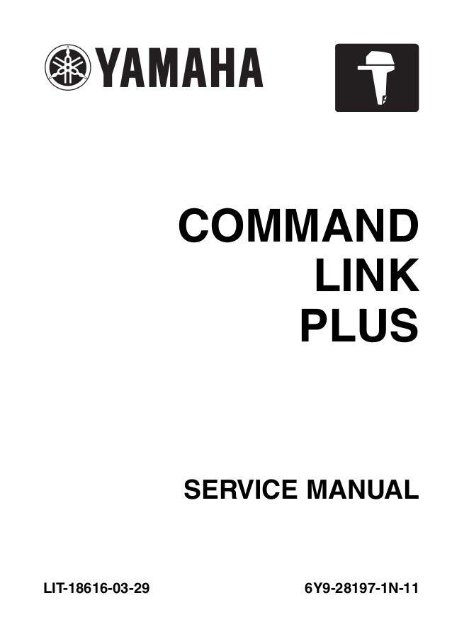2011 Yamaha 6 U00d76 Type C Command Link Plus Service Repair