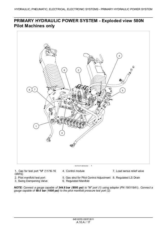 CASE 580N TRACTOR LOADER BACKHOE Service Repair Manual