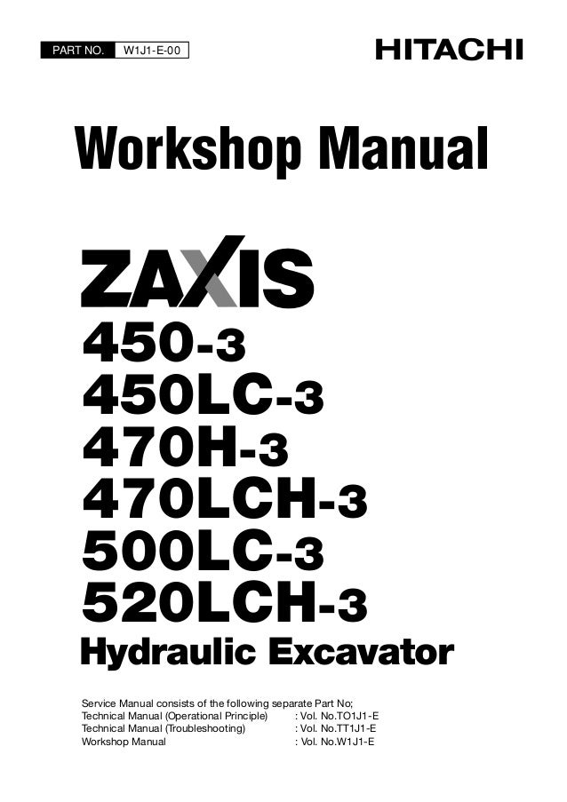 hitachi zaxis 450lc 3 excavator service repair manual