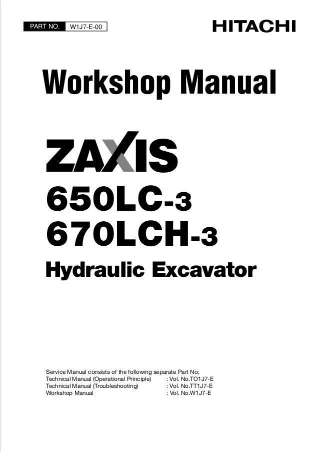 HITACHI ZAXIS 670LCH-3 EXCAVATOR Service Repair Manual