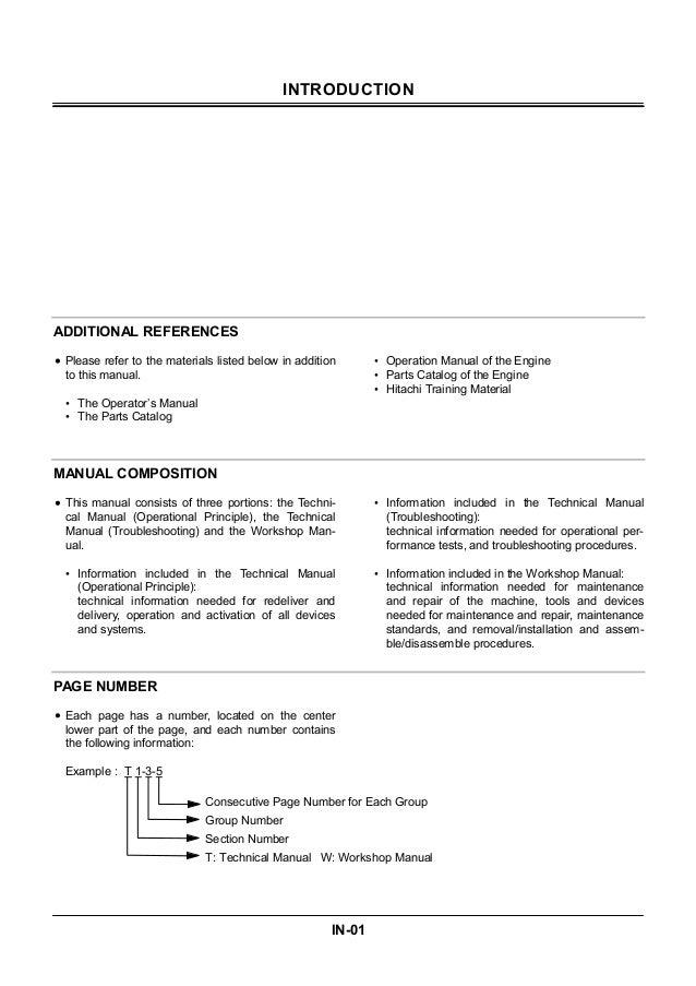 hitachi ex3600 5 excavator service repair manual rh slideshare net Hitachi EX 200 Service Manuals Hitachi Excavators