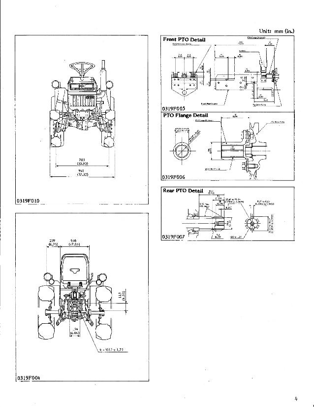 Kubota B5200 Tractor Service Repair Manual on