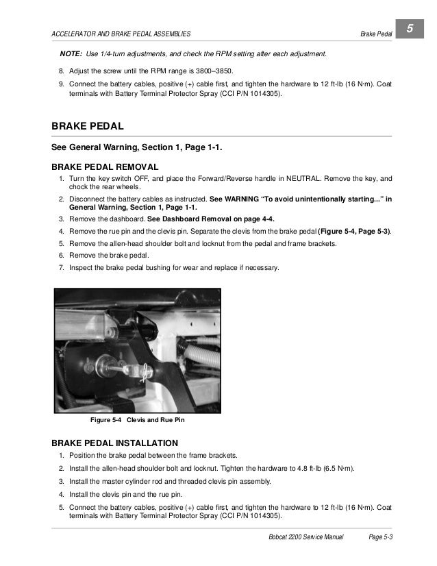 BOBCAT 2200 UTILITY VEHICLE Service Repair Manual SN