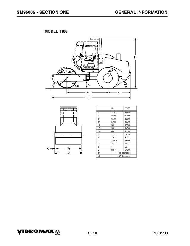 Jcb Vibromax 1405 Single Drum Roller Service Repair Manual