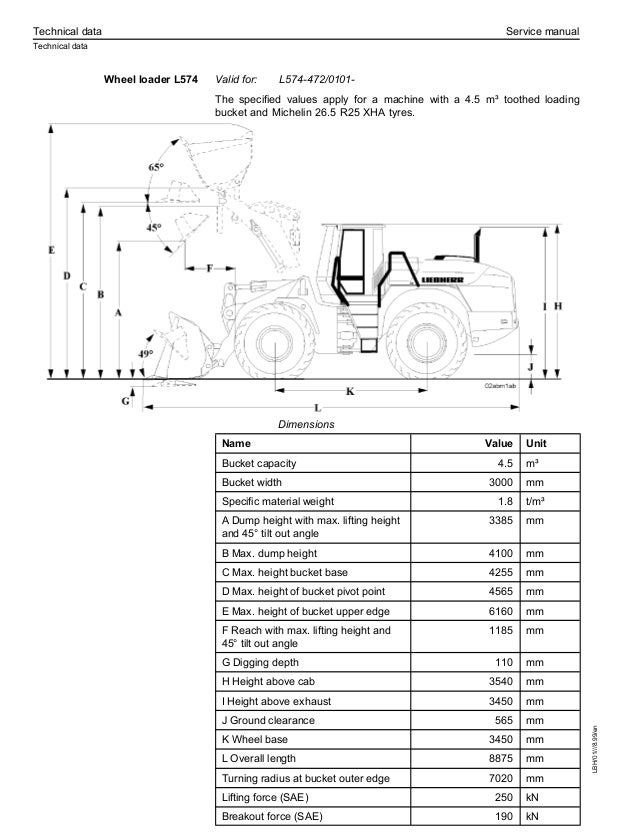 Liebherr L554-452 Wheel Loader Service Repair Manual S/N