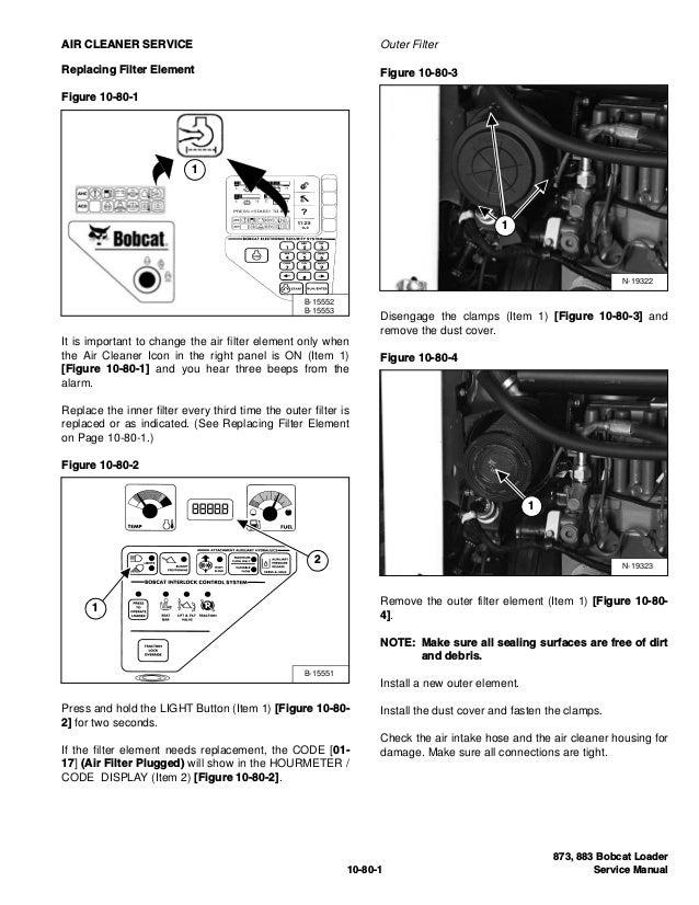 BOBCAT 873 SKID STEER LOADER Service Repair Manual S/N
