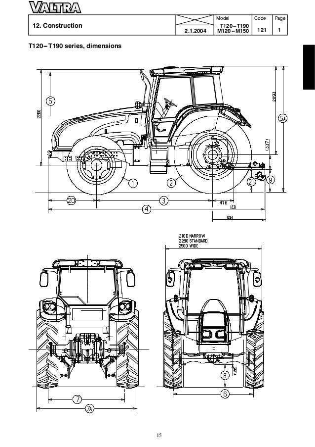 Valtra M 120 TRACTOR Service Repair Manual