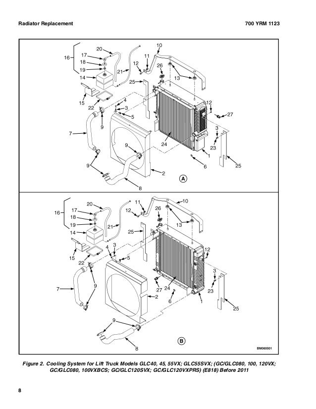 Yale G813 Gdp80vx Lift Truck Service Repair Manual