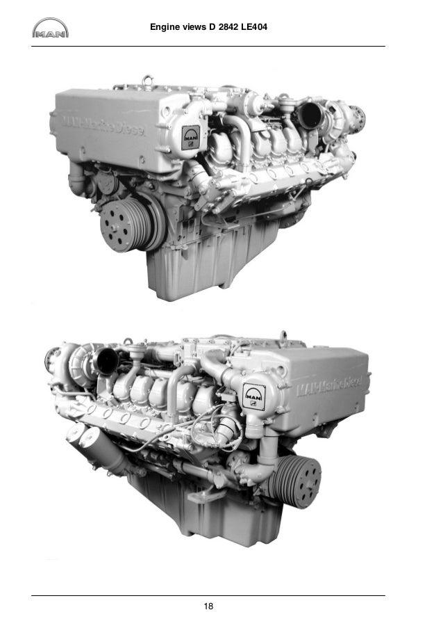MAN Marine Diesel Engine D 2842 LE 416 Service Repair Manual