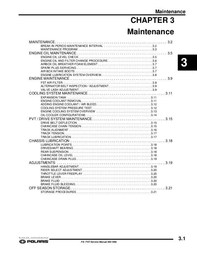 2006 POLARIS FST TOURING SNOWMOBILE Service Repair Manual