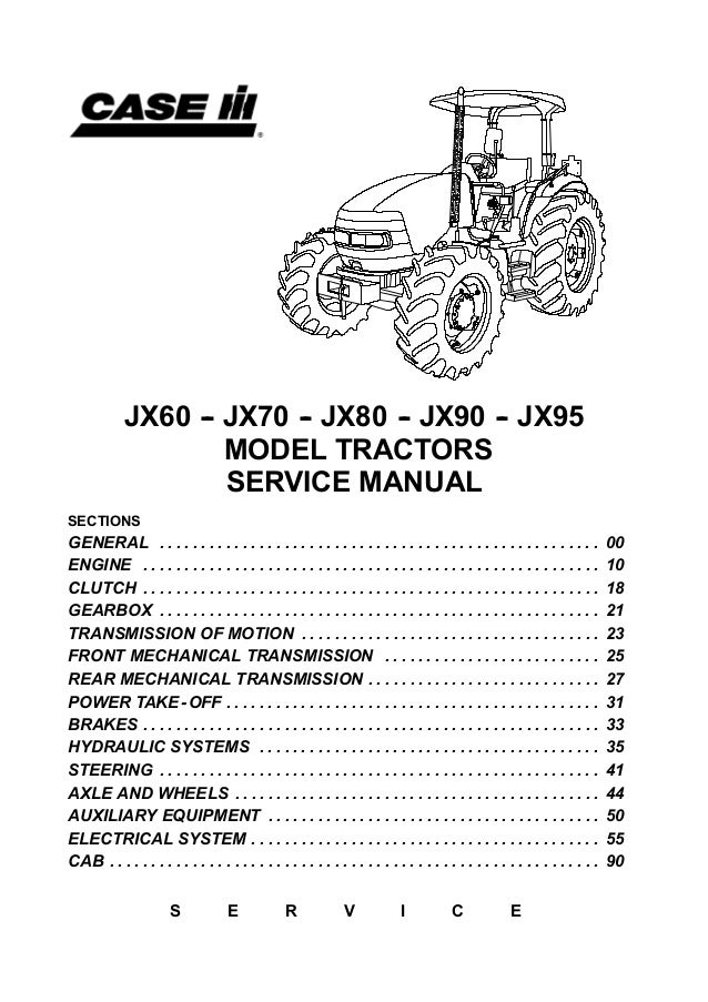 case ih jx80 tractor service repair manual rh slideshare net case jx55 owners manual JX75 Case Cab and Loader