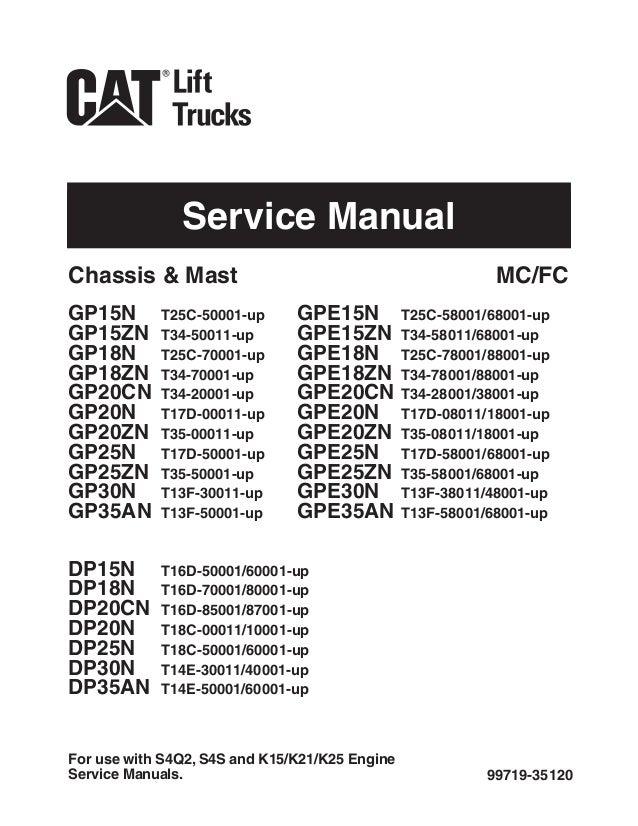 caterpillar cat gp30n forklift lift trucks service repair manual sn t rh slideshare net Caterpillar C5000 LP Caterpillar C5000 LP