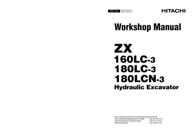 HITACHI ZAXIS ZX 160LC-3 EXCAVATOR Service Repair Manual