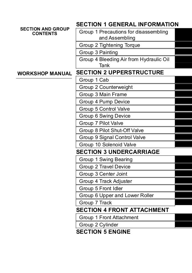 hitachi zaxis 210 excavator service repair manual rh slideshare net Hitachi Excavators Service Manual Hitachi Service Manuals HA6