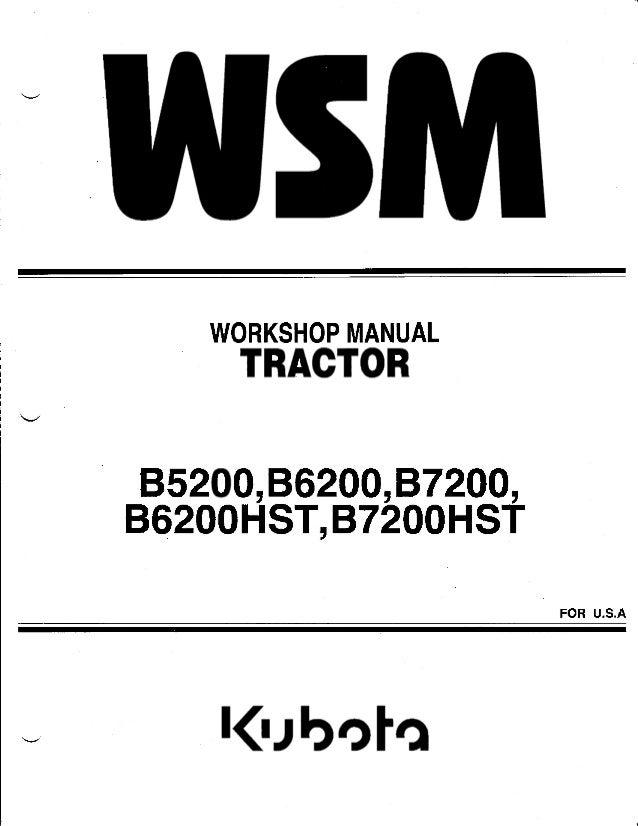 kubota b7200 service manual pdf