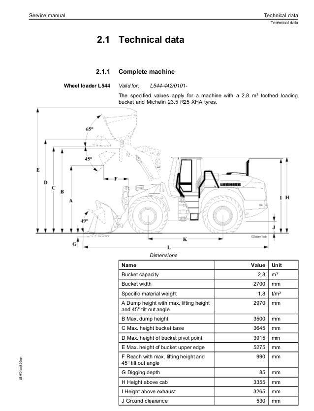 Liebherr L544-442 Wheel Loader Service Repair Manual S/N