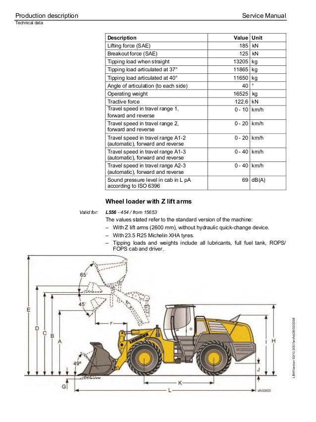 Liebherr L556-454 Wheel Loader Service Repair Manual SN