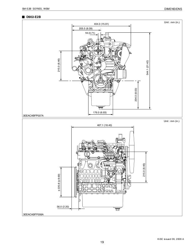 KUBOTA D662-E2B DIESEL ENGINE Service Repair Manual