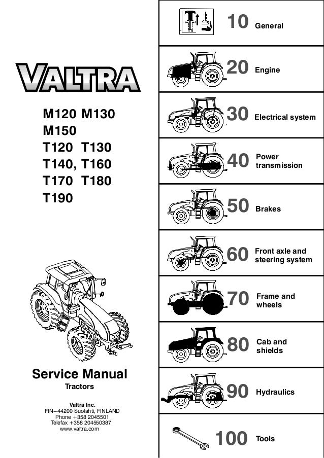 Valtra T 140 TRACTOR Service Repair Manual on