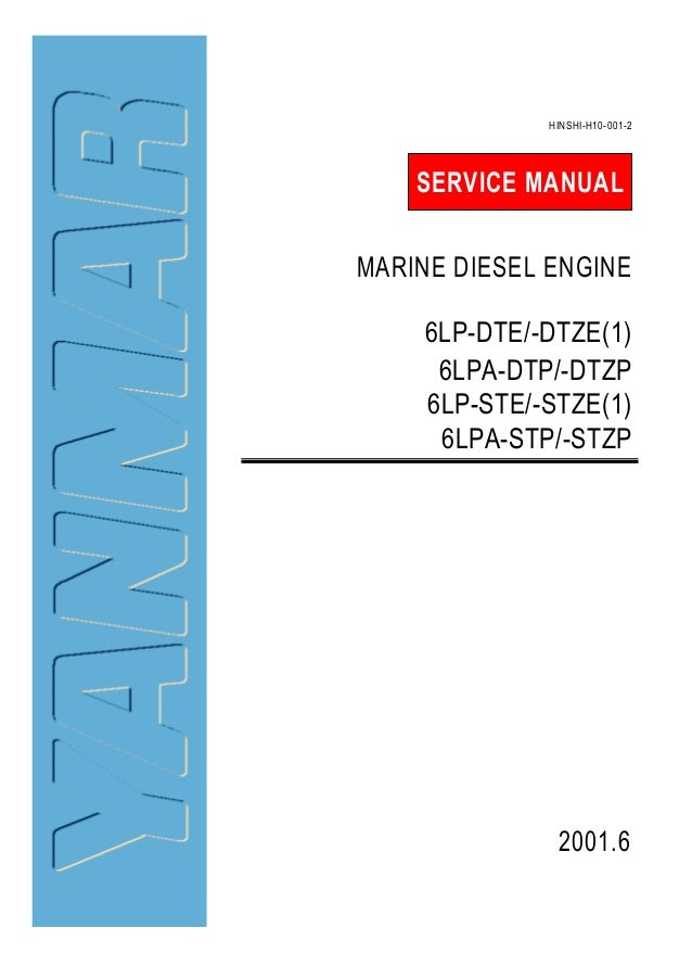 Yanmar 6LPA-DTP Marine Diesel Engine Service Repair Manual