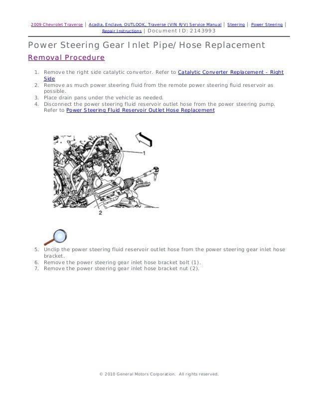 2009 saturn outlook service repair manual rh slideshare net 2008 saturn outlook repair manual 2009 Saturn Outlook Recall