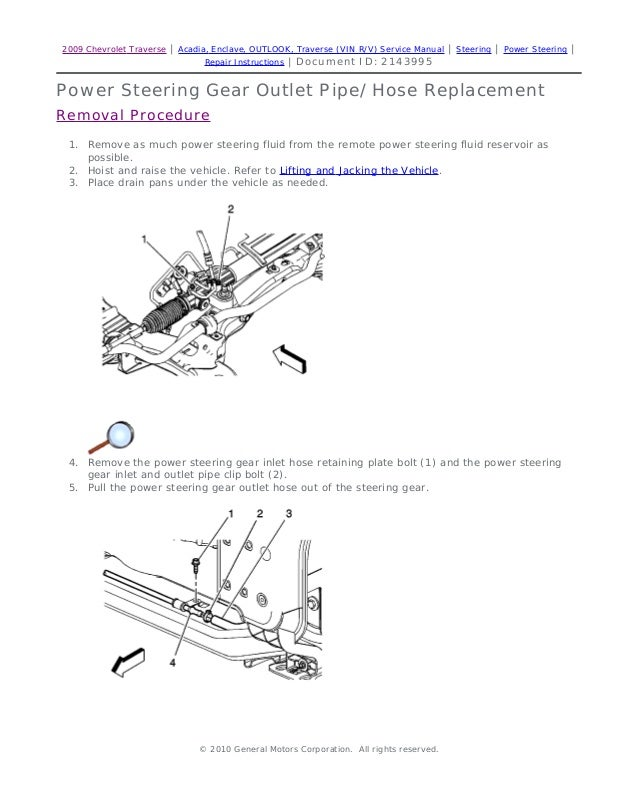 2009 saturn outlook service repair manual rh slideshare net 2009 saturn outlook repair manual 2009 saturn outlook owner's manual pdf