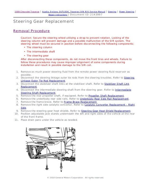 2009 saturn outlook service repair manual rh slideshare net 2009 Saturn Outlook Brochure 2009 Saturn Outlook Interior
