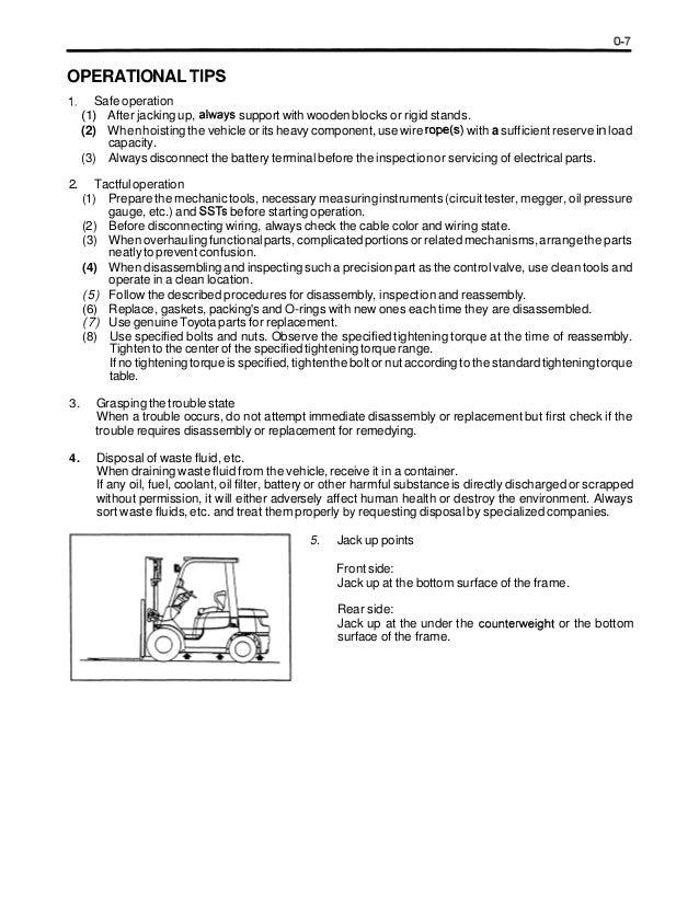 toyota forklift 7fgcu15 manual best setting instruction guide u2022 rh ourk9 co toyota forklift 7fgu30 operators manual Toyota Forklift 7FGU30 Dash Warning Lights