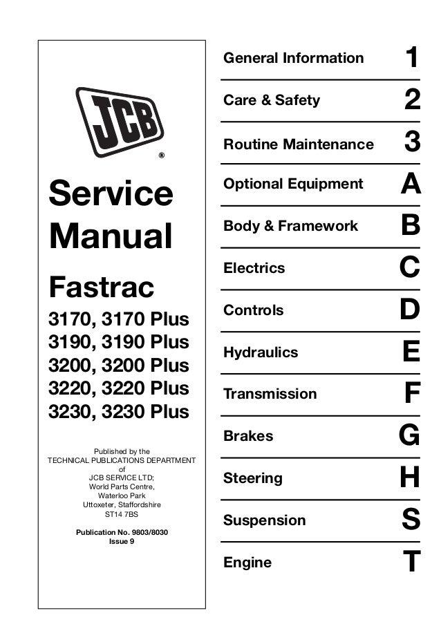 jcb 3230 plus fastrac service repair manual rh slideshare net icom 3230 service manual icom 3230 service manual