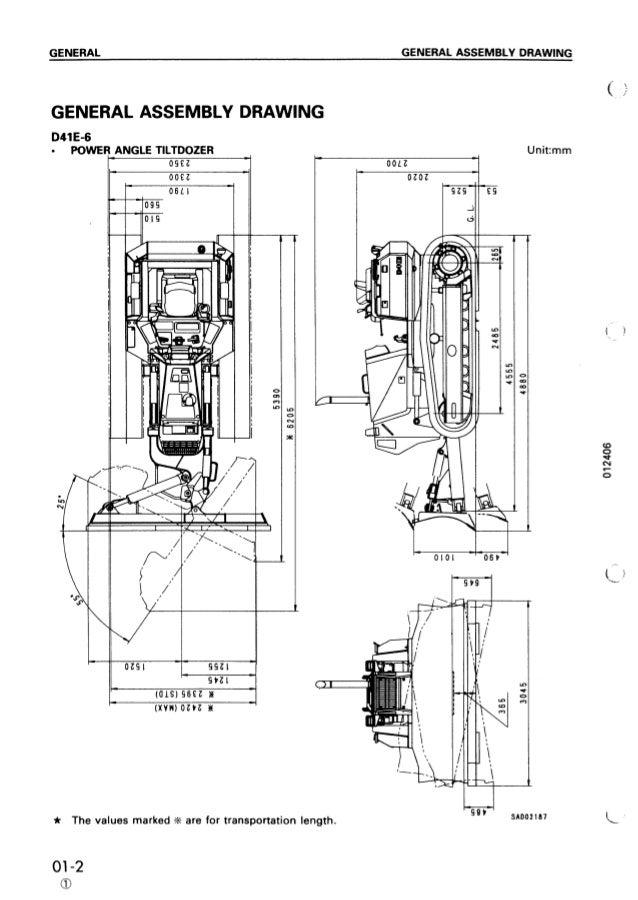Komatsu D41P-6 Dozer Bulldozer Service Repair Manual S/N