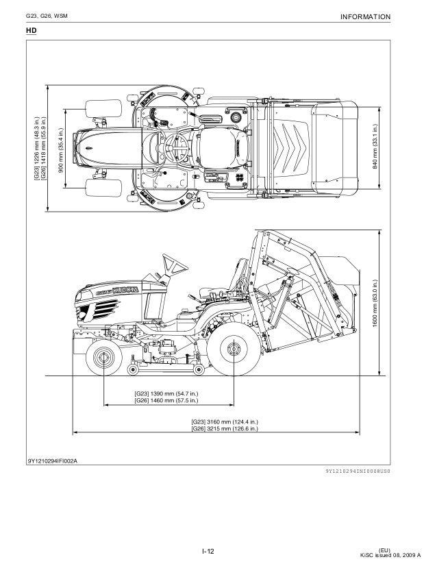 kubota g26 ii array - kubota g23 ride on mower service repair manual rh  slideshare net