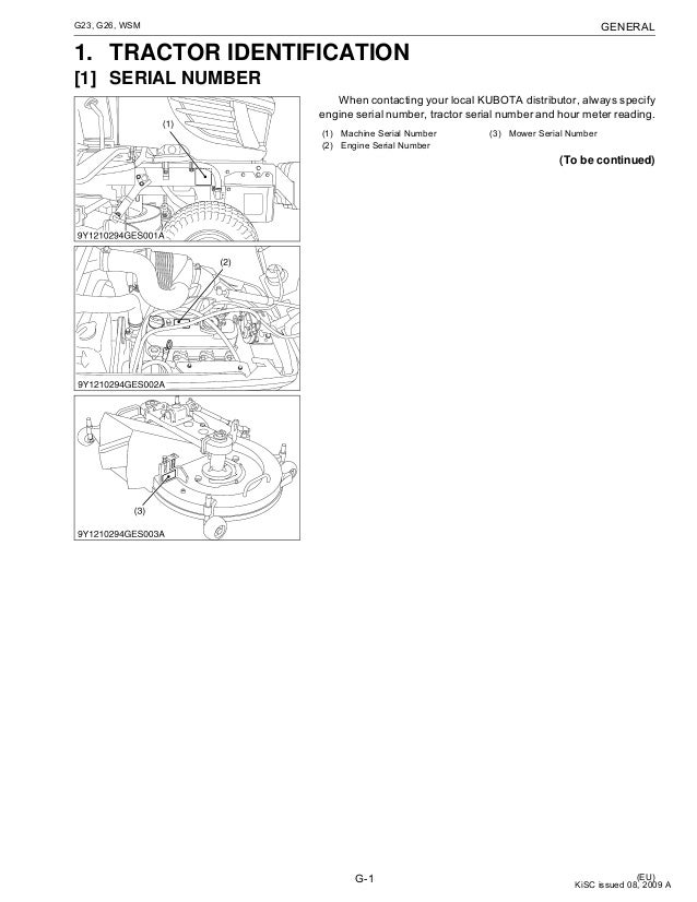Kubota G23 User Manual
