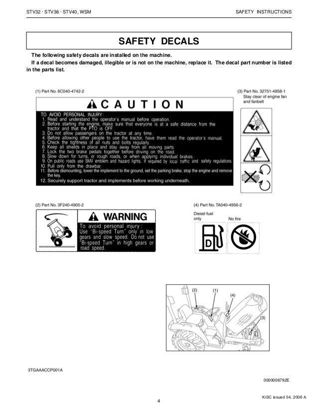 KUBOTA STV36 TRACTOR Service Repair Manual