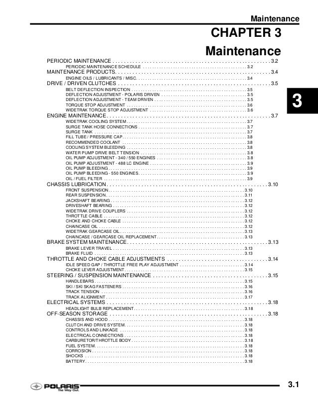 2008 POLARIS 340 SNOWMOBILE Service Repair Manual