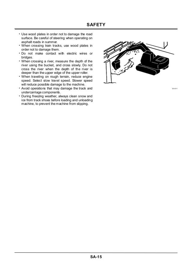 HITACHI ZAXIS 225US-3 CLASS EXCAVATOR Service Repair Manual