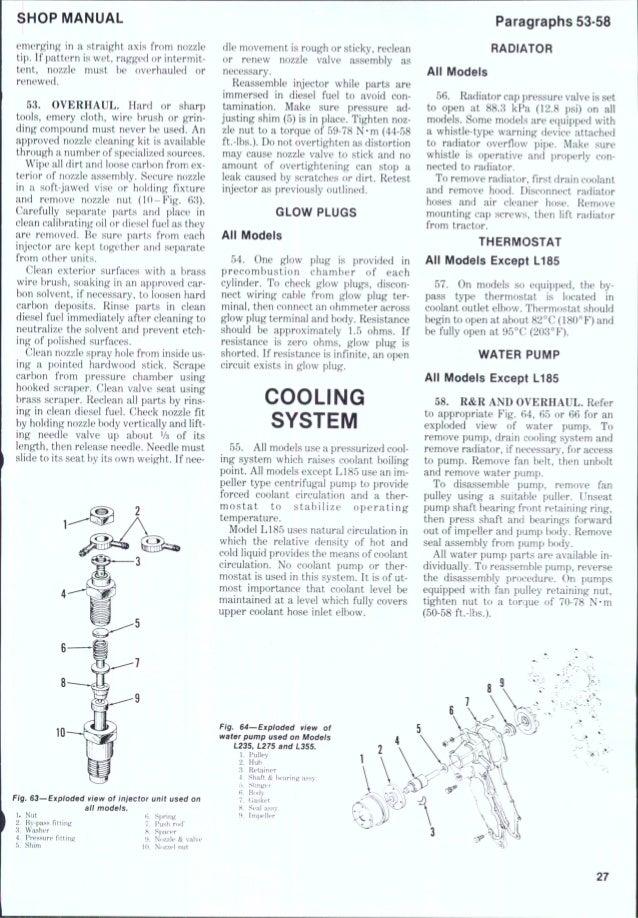 Kubota L235 Tractor Service Repair Manual