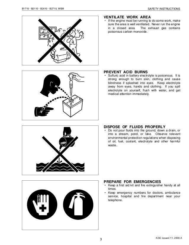 KUBOTA B2110DB TRACTOR Service Repair Manual